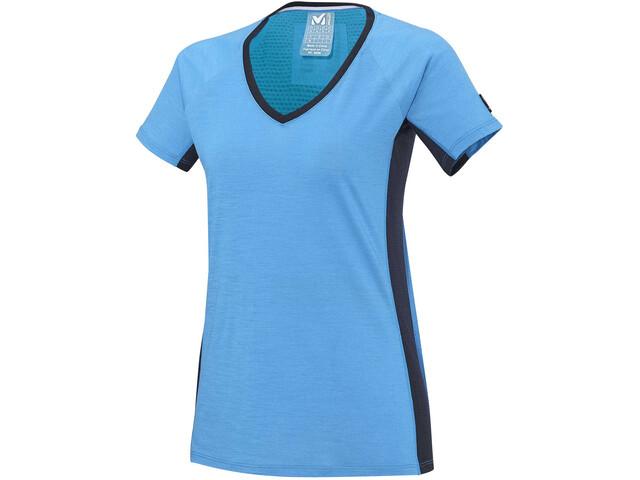 Millet LD Trilogy Wool TS Bluzka z krótkim rękawem Kobiety, light sky/saphir